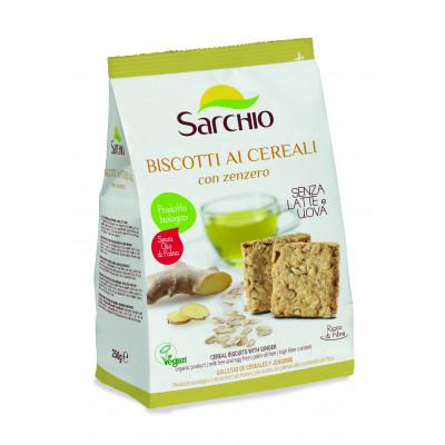 Зерновое печенье с имбирем Sarchio 250 г