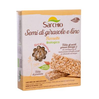 Снек з насіння соняшнику та льону Sarchio 80 г (4х20г)