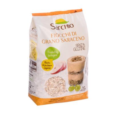 Гречані пластівці Sarchio 375 г