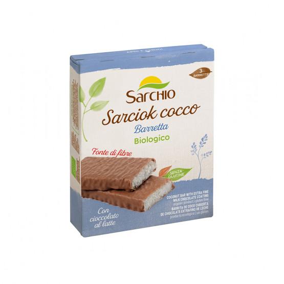 Кокосовий снек вкритий шоколадом Sarchio 90 г (3x30г)