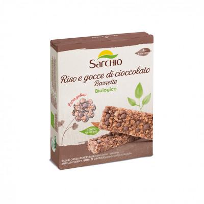 Снек из риса с добавлением шоколадной крошки Sarchio 80 г (4X20г)