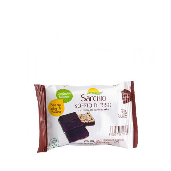 Шоколад чёрный с воздушным рисом Sarchio 25 г