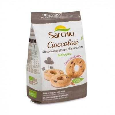 Рисовое печенье с шоколадной крошкой Sarchio 200 г