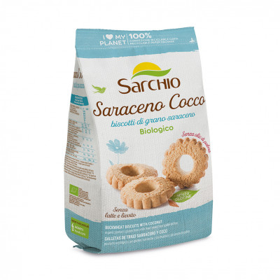 Гречане печиво з кокосом Sarchio 200 г