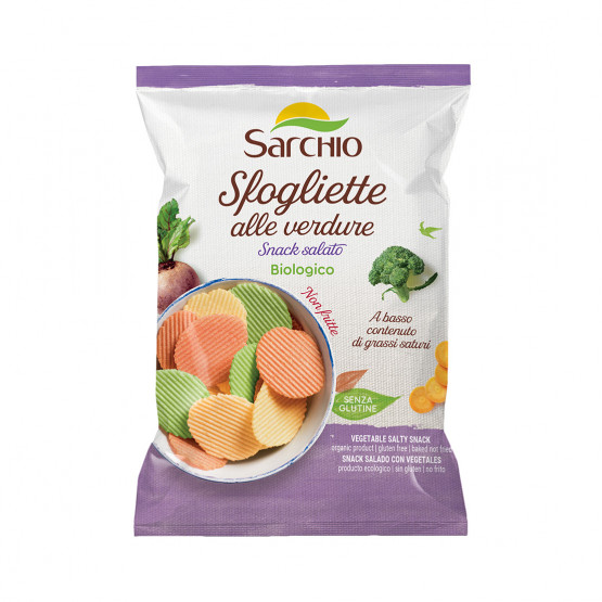 Овочеві чіпси Sarchio 55 г