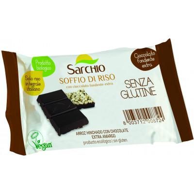 Шоколад чорний з повітряним рисом Sarchio 25 г