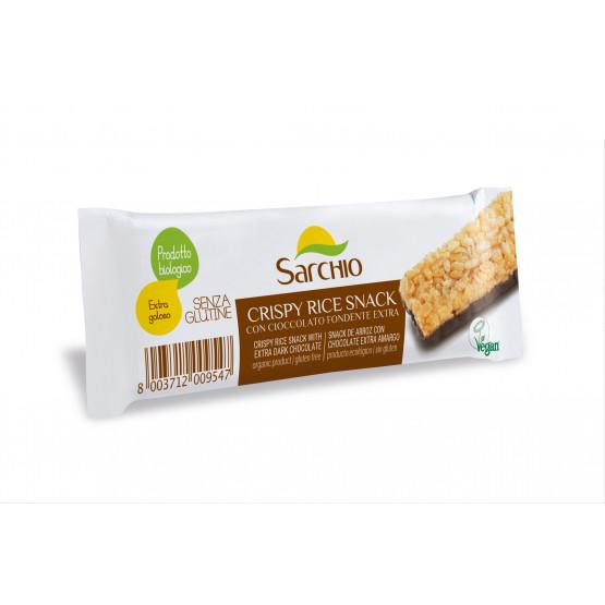 Снек з рису з чорним шоколадом Sarchio 25 г